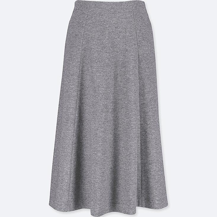 WOMEN WOOL BLENDED JERSEY VOLUME SKIRT
