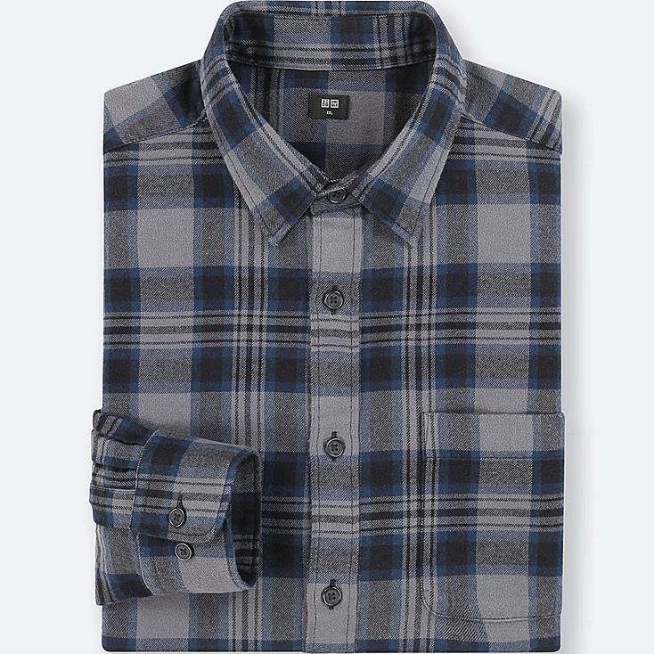 MEN FLANNEL CHECKED LONG SLEEVE SHIRT
