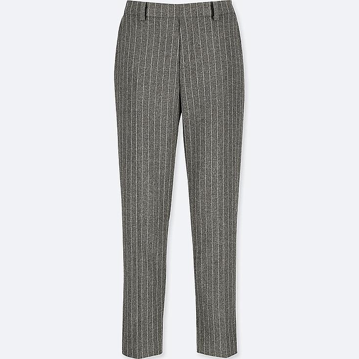 WOMEN TWEED ANKLE-LENGTH PANTS, GRAY, large