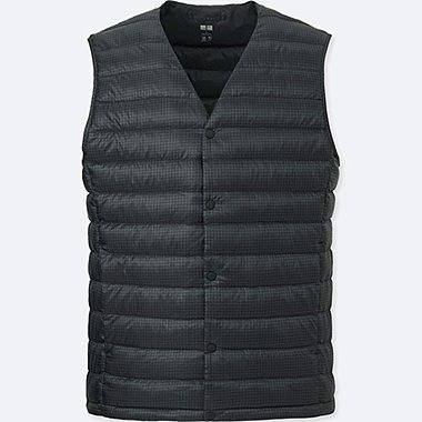 MEN ULTRA LIGHT DOWN COMPACT VEST, GRAY, medium