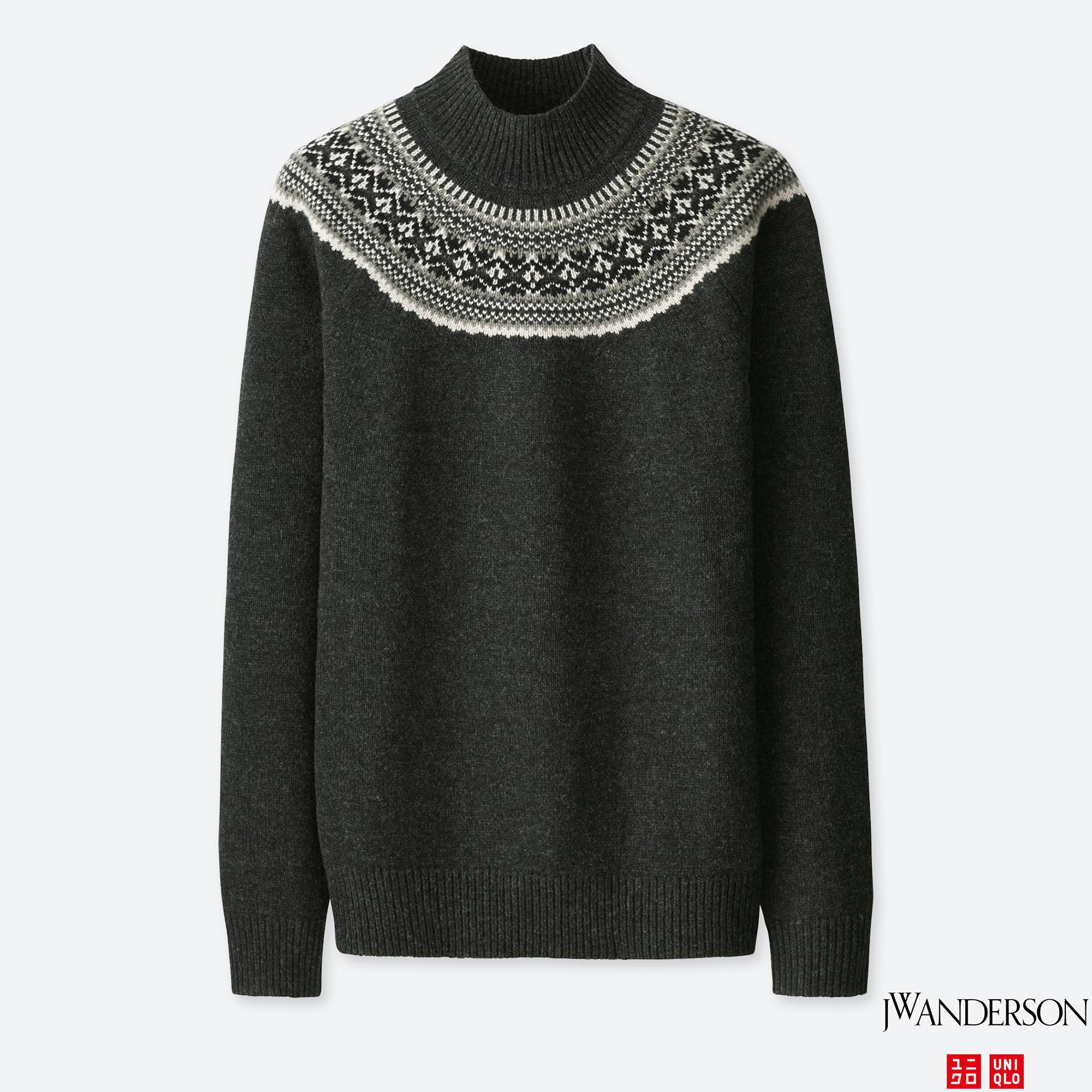 MEN JWA FAIR ISLE MOCK NECK LONG-SLEEVE SWEATER | UNIQLO US