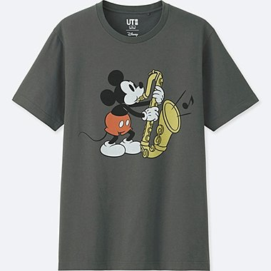 MEN SOUNDS OF DISNEY SHORT-SLEEVE GRAPHIC T-SHIRT, GRAY, medium
