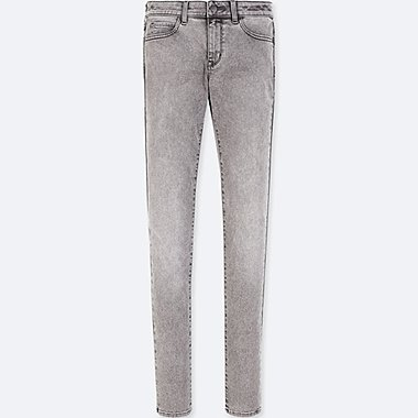WOMEN ULTRA STRETCH JEANS, GRAY, medium
