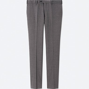 MEN STRETCH WOOL SLIM FIT TROUSERS