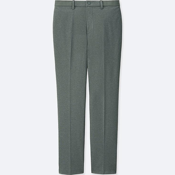 MEN EZY ANKLE-LENGTH PANTS (DRY-EX), GRAY, large