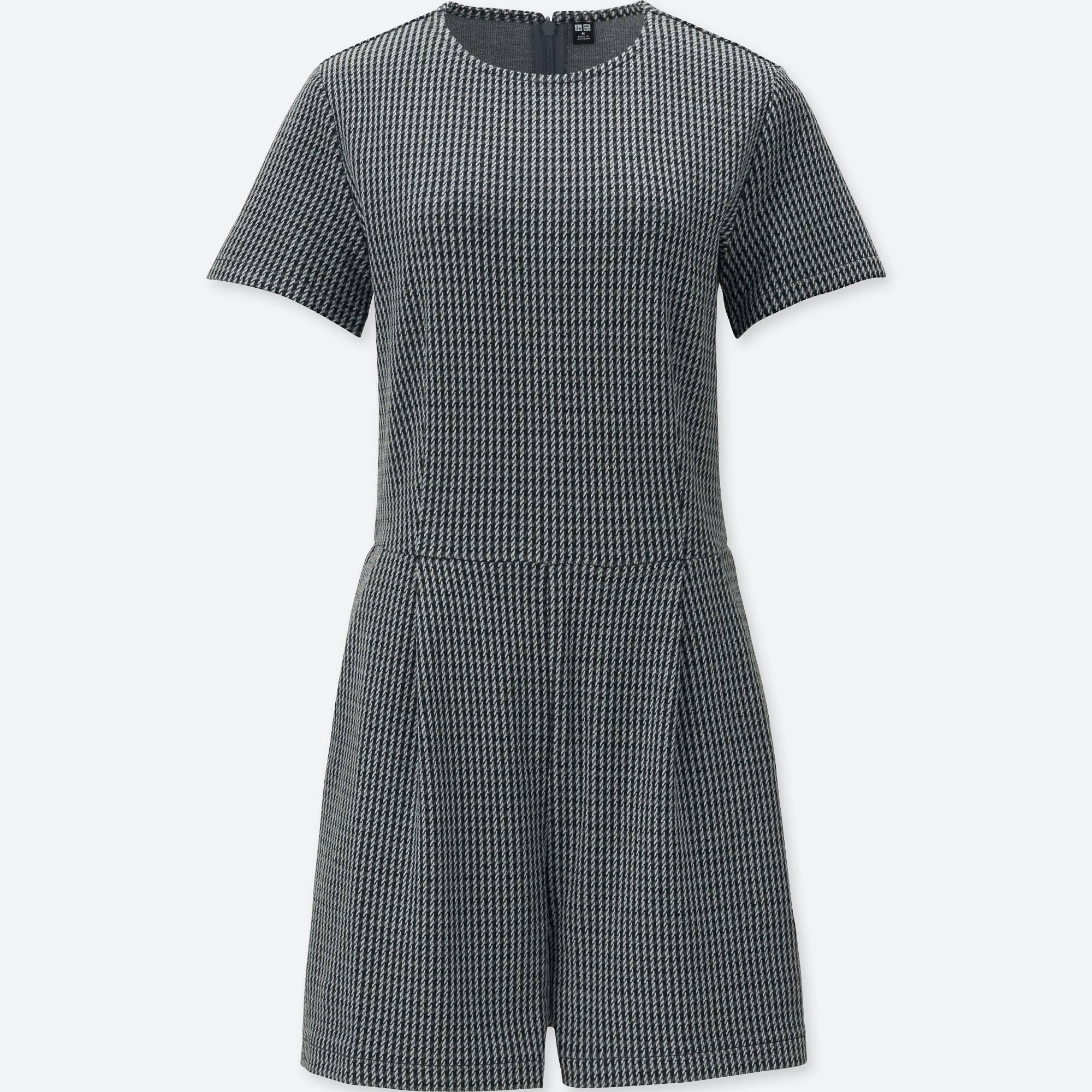 UNIQLO / Váy đầm & Jumpsuits women jacquard short-sleeve romper