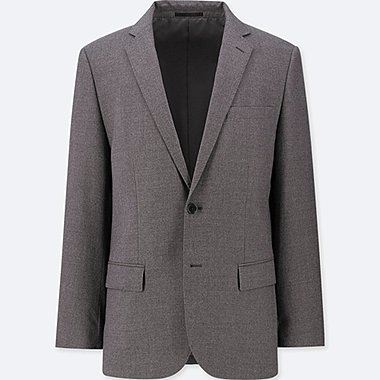 MEN STRETCH WOOL SLIM FIT BLAZER JACKET