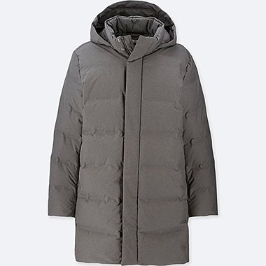 MEN SEAMLESS DOWN HOODED COAT