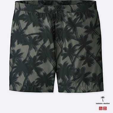 MEN PRINTED SWIM SHORTS, GRAY, medium