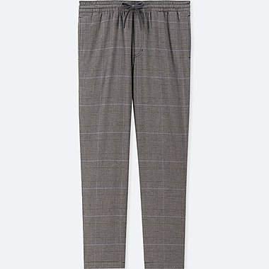 MEN FLANNEL EASY PANTS, GRAY, medium