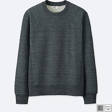 MEN U LONG-SLEEVE SWEATSHIRT, GRAY, medium