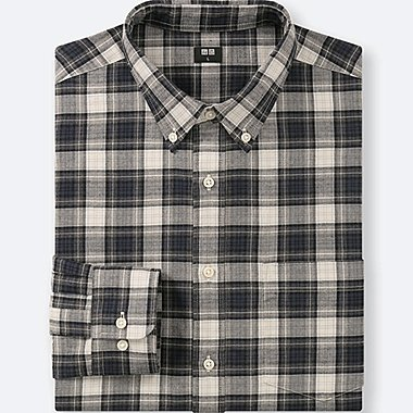 HERREN KARIERTES FLANELLHEMD (REGULAR FIT, BUTTON-DOWN-KRAGEN)