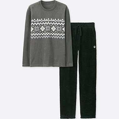 MEN DISNEY HOLIDAY COLLECTION LONG-SLEEVE FLEECE SET, GRAY, medium