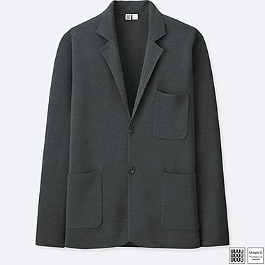 MEN UNIQLO U Extra Fine Merino Milano Ribbed Blazer Jacket