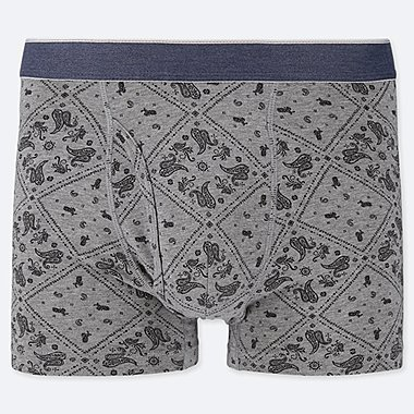 MEN SUPIMA COTTON PRINT BOXER BRIEFS