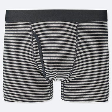 MEN SUPIMA COTTON STRIPED BOXER BRIEFS