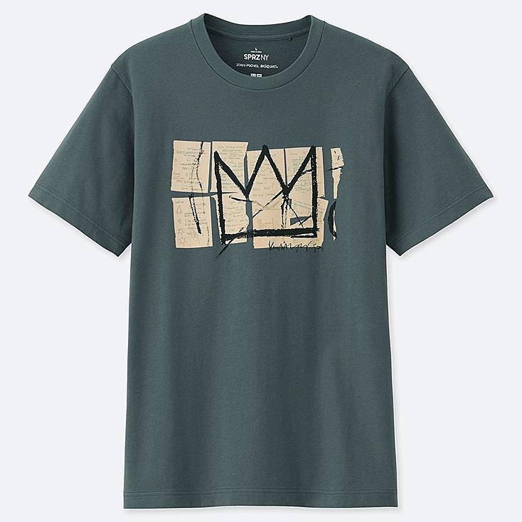 SPRZ NY SHORT-SLEEVE GRAPHIC T-SHIRT (JEAN-MICHEL BASQUIAT), GRAY, large