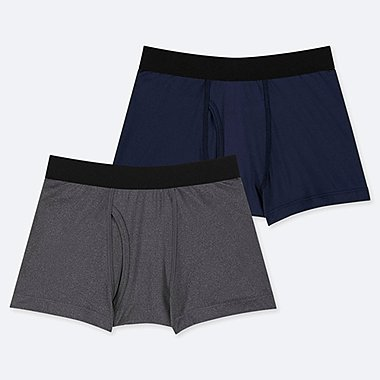 BOYS AIRism BOXER BRIEFS (SET OF 2), GRAY, medium