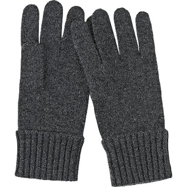 CASHMERE KNIT GLOVES, DARK GRAY, medium