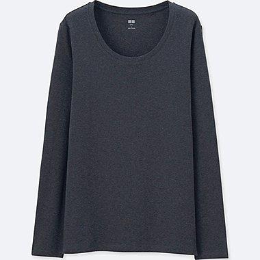DAMEN Supima Cotton Langarmshirt rundhalausschnitt
