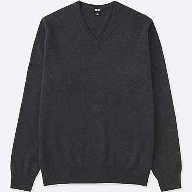 HERREN Kaschmir Pullover V-Ausschnitt