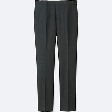 Womens Smart Style Ankle Pants, DARK GRAY, medium