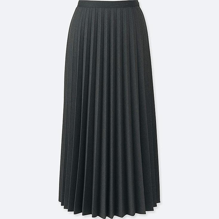 WOMEN Pleated Midi Skirt | UNIQLO UK