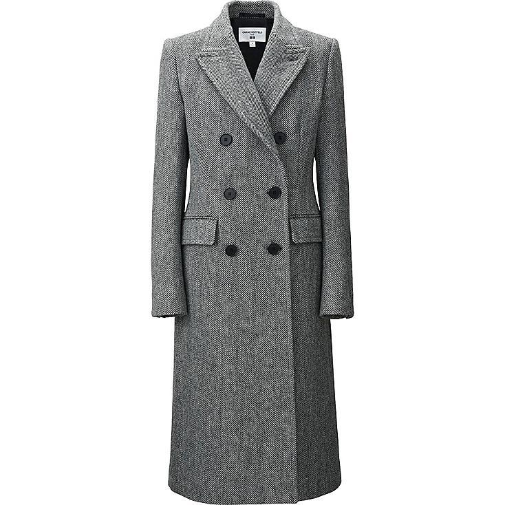 WOMEN CARINE TWEED COAT, DARK GRAY, large