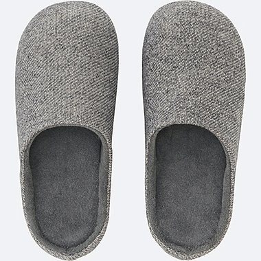 ROOM SHOES, DARK GRAY, medium