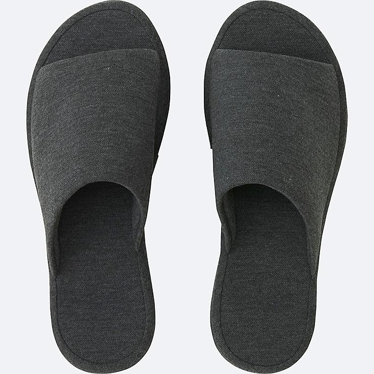 SLIPPERS (PIQUE), DARK GRAY, large