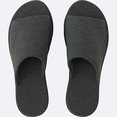 SLIPPERS (PIQUE), DARK GRAY, medium