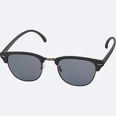 BROW LINE SUNGLASSES, DARK GRAY, medium