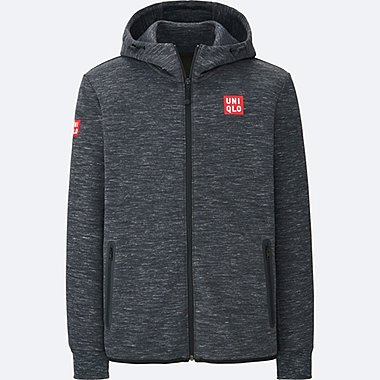 MEN NK DRY STRETCH SWEAT FULL-ZIP HOODIE 17AUS, DARK GRAY, medium