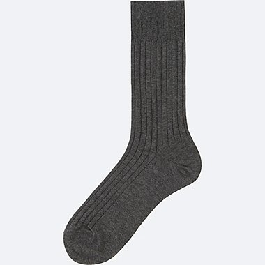 MEN Supima Cotton Wide Rib Socks
