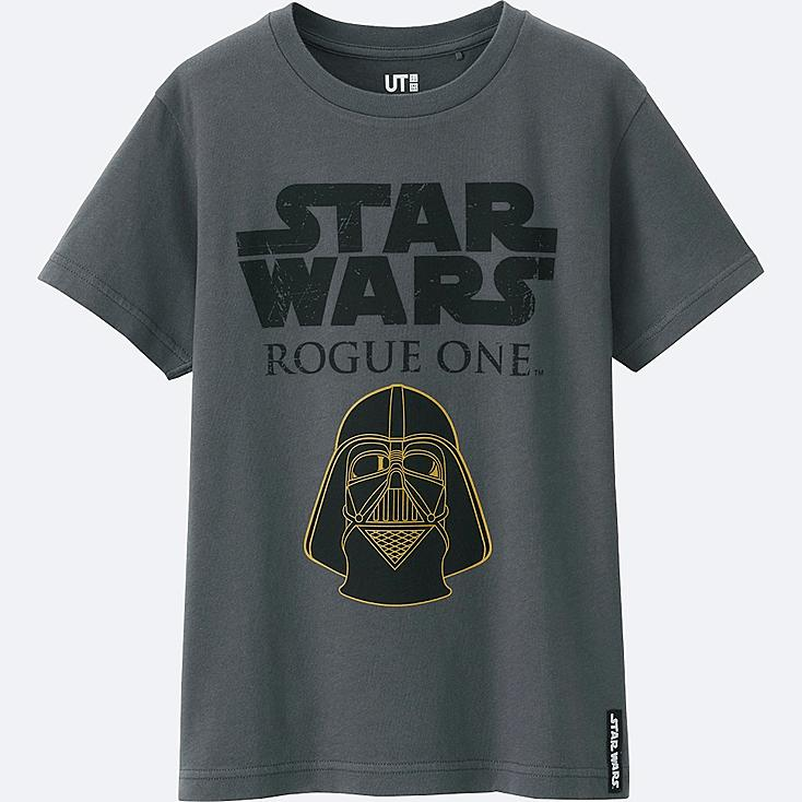 KIDS STAR WARS SHORT SLEEVE GRAPHIC T-Shirt, DARK GRAY, large