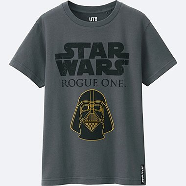 KIDS STAR WARS SHORT SLEEVE GRAPHIC T-Shirt, DARK GRAY, medium