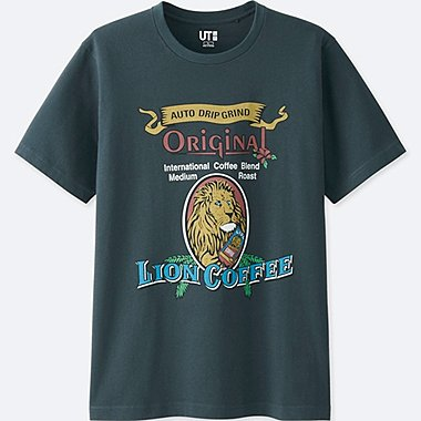 THE BRANDS SHORT-SLEEVE GRAPHIC T-SHIRT (LION COFFEE), DARK GRAY, medium