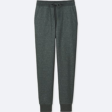 WOMEN PILE-LINED SWEATPANTS, DARK GRAY, medium
