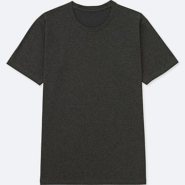 MEN PACKAGED DRY CREW NECK SHORT-SLEEVE T-SHIRT, DARK GRAY, medium