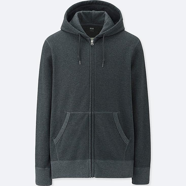 MEN LONG SLEEVE SWEAT FULL-ZIP HOODIE