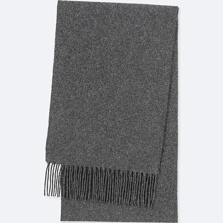 CASHMERE SCARF, DARK GRAY, large
