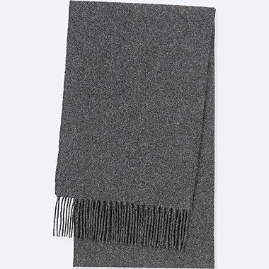 CASHMERE SCARF, DARK GRAY, medium