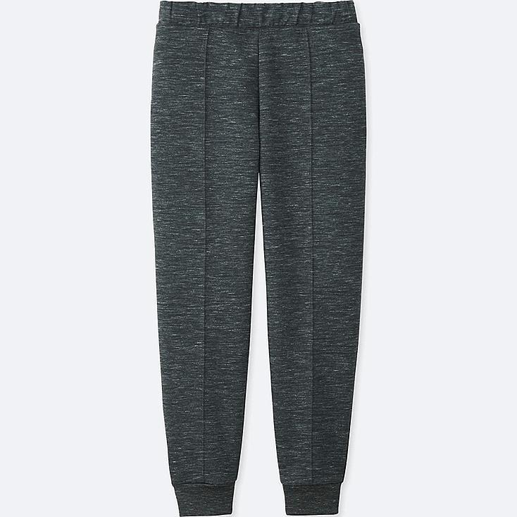 WOMEN DRY STRETCH SWEAT PANTS, DARK GRAY, large