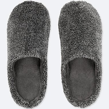 SLIPPERS, DARK GRAY, medium
