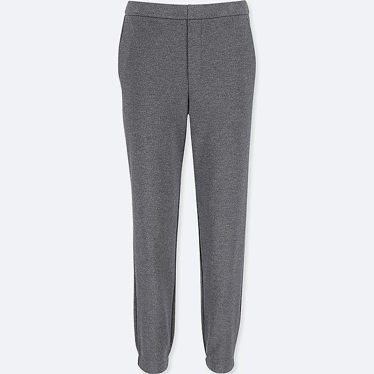 WOMEN PONTE JOGGER PANTS, DARK GRAY, large
