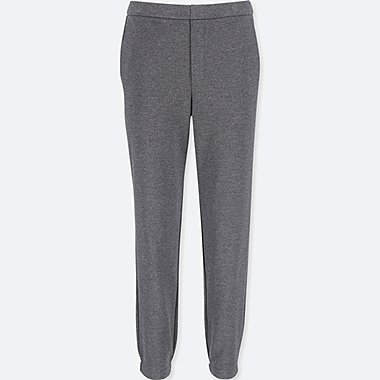WOMEN PONTE JOGGER PANTS, DARK GRAY, medium