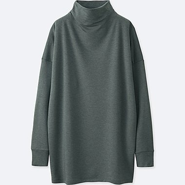 WOMEN HEATTECH STRETCH MOCK NECK PULLOVER