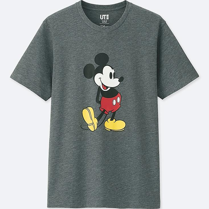 MICKEY STANDS SHORT-SLEEVE GRAPHIC T-SHIRT, DARK GRAY, large