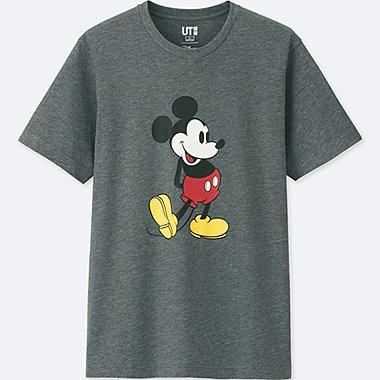 MEN MICKEY STANDS SHORT-SLEEVE GRAPHIC T-SHIRT, DARK GRAY, medium