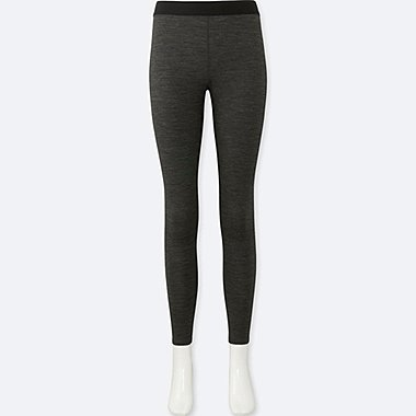 WOMEN WOOL-BLEND LEGGINGS, DARK GRAY, medium